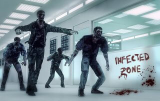Zombies infected zone